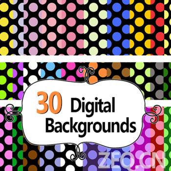 Big polka dot -20 digital background6-artclip 300pdi