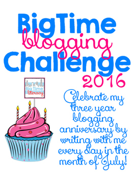 BigTime Blogging Challenge 2016 #btbc16