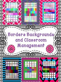 Huge Bundle:  Digital Backgrounds, Frames, Classroom Signs