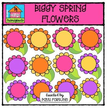 Biggy Flowers  {P4 Clips Trioriginals Digital Clip Art}