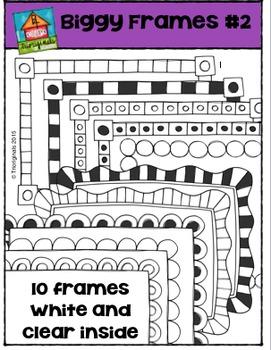 Biggy Frames #2 {P4 Clips Trioriginals Digital Clip Art}