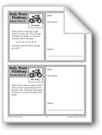 Bike Racing (Grade 6+ Daily Word Problems-Week 15)