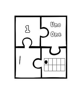 Bilingual 1-20 Math Puzzle