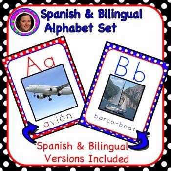 Dual Language Spanish Alphabet with Cognates / Alphabeto Bilingüe