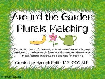 Bilingual Around the Garden Spring Plurals Match **CCSS Aligned**