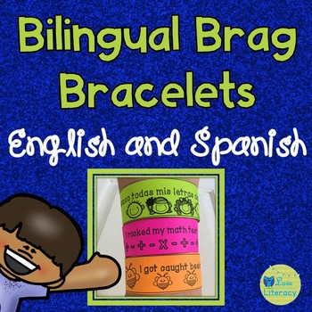 Bilingual Brag Bracelet Set ( English and Spanish )