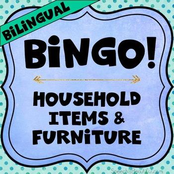 Bilingual Category Bingo: Household Items Flashcards & Gam