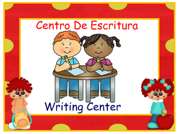 Bilingual Centers Signs - Raggedy Theme