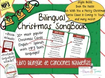 Bilingual Christmas Songbook MP3 Canciones Navidad Vocabul