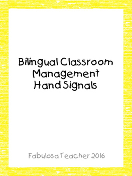 Bilingual Classroom Management Hands Signals
