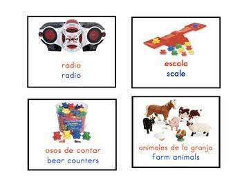 Bilingual Classroom Material Labels, Dual Language