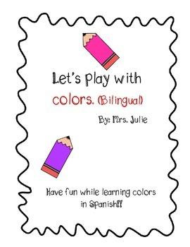 Bilingual Color bingo for elementary