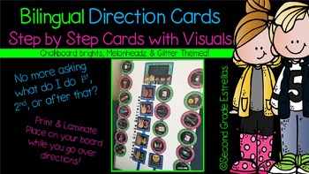 Bilingual Direction Cards