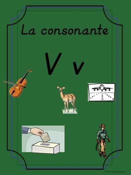 Bilingual Dual Language D'Nealian Silabas con Vv-- va ve vi vo vu