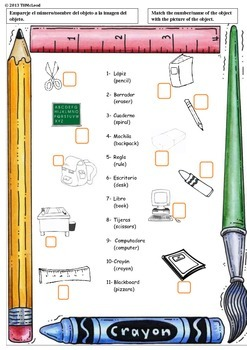 Bilingual, Dual Language, Spanish/English Elementary Map Homework