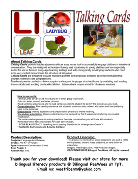Bilingual English Alphabet Conversation Cards-BrownBear