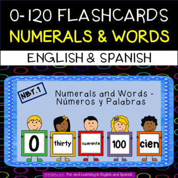 English (Spanish included FREE) - Number Flashcards - 0-12
