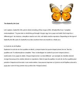 Bilingual (French/English) Life Cycle Unit