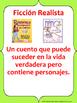 Bilingual Genre Poster Pack for Upper Elementary (Spanish
