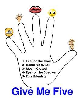 Bilingual Give Me Five Poster (Dame Cinco Letrero)