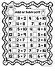 Bilingual January First Grade Math Worksheets (and Centers