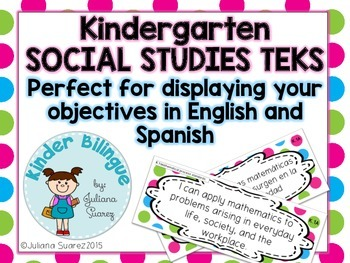 Bilingual Kindergarten Social Studies TEKS  in English and