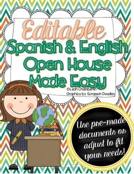 Bilingual Open House Made Easy {Editable} English AND Spanish