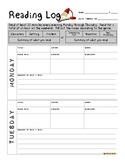 Bilingual Reading Log for Intermediate Grades