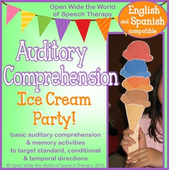 Bilingual Speech Therapy Basic Auditory Comprehension Ice