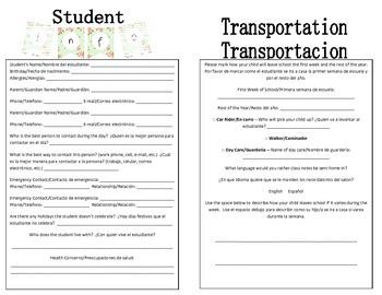 Bilingual Student Information
