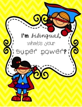 Bilingual Super Power Poster