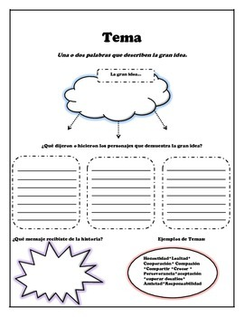 "Bilingual ""Theme"" Graphic Organizer"