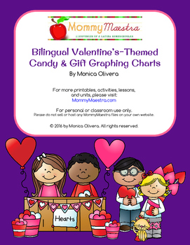 Bilingual Valentine's Day Candy Graphing Charts