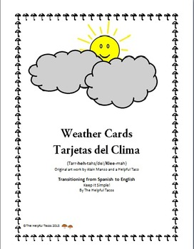 Bilingual Weather Cards