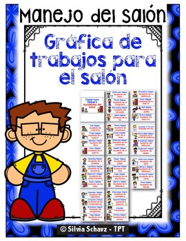 Bilingual and Spanish Job Cards to Build a Job Chart. (Tra