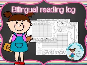 Bilingual reading log for beginner readers