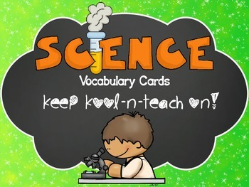 Bilingual science vocabulary cards