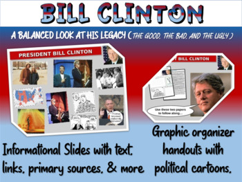 Bill Clinton: overview w quotes, cartoons, foreign/domesti