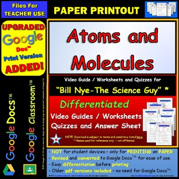 Printables Atoms And Molecules Worksheet bill nye atoms and molecules by star materials answer sheet a
