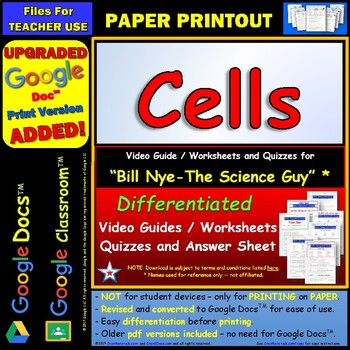 Printables Bill Nye Cells Worksheet bill nye cells worksheet answer sheet by star materials and two quizzes