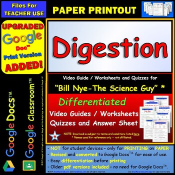 Printables Digestion Worksheet bill nye digestion worksheet answer by star materials sheet and two quizzes
