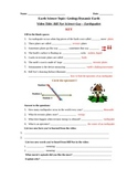 Bill Nye Science Guy Movie -Earthquakes. Video Worksheet &