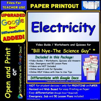 Printables Electricity Worksheet bill nye electricity worksheet answer by star materials sheet and two
