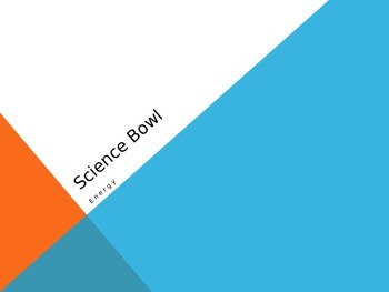 """Bill Nye Energy """"Science Bowl"""" game"""