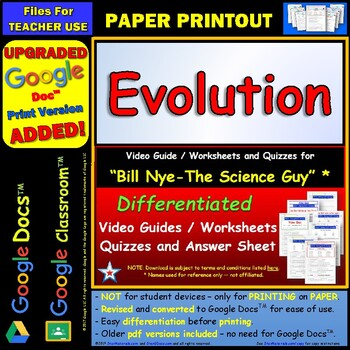 Printables Evolution Worksheet bill nye evolution worksheet answer by star materials sheet and two quizzes