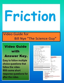 Bill Nye: Friction (Movement) video sheet