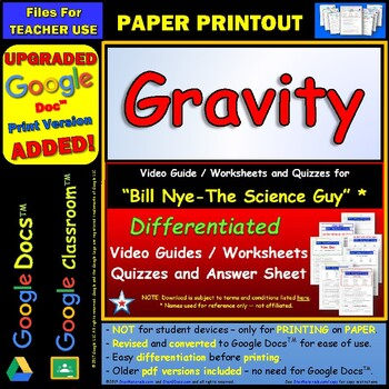 Printables Bill Nye Gravity Worksheet bill nye gravity worksheet answer sheet by star materials and two quizzes