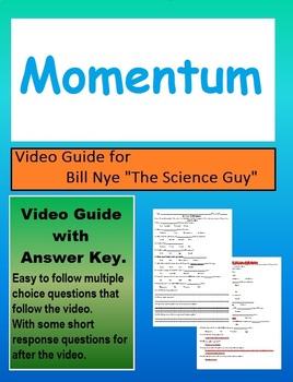 Bill Nye: Momentum (motion) video sheet
