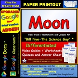 Bill Nye - Moon – Worksheet, Answer Sheet, and Two Quizzes.