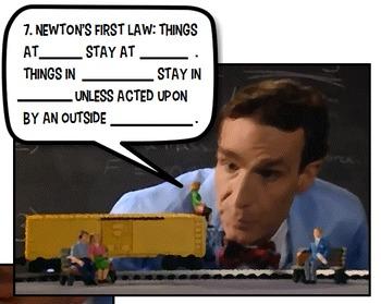 Bill Nye Motion fun activity PowerPoint key 5 6 7 8 Jr Hig